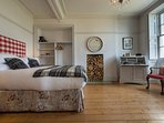 King-size bedroom with period features