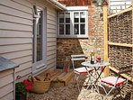 Courtyard with bistro set