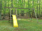 Swing set for kids or young at heart = great time for all to enjoy!