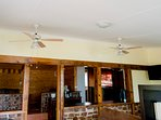 Lots of ceiling fans for your comfort!