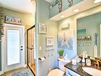 This second bathroom is easy, breezy, beautiful!
