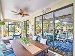 Patio furniture offers another space for savor meals with the family!