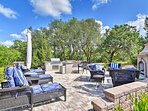 Relax on the lounge chairs or in front of the outdoor fireplace!