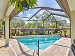 Admire beautiful palm tree views form the patio.