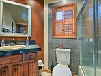 This updated full bathroom makes morning routines a breeze.