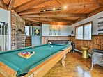 You'll find a billiards table and electronic dart board.