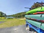 The Saw Creek Estates community boasts a private lake & kayak rentals.