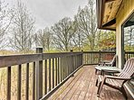 Scenic views entend for miles from this wraparound deck.