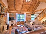 You're sure to adore the rustic interior of this home-away-from-home.
