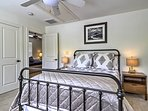 The two upstairs bedrooms are beautifully appointed and tastefully decorated.