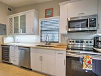 The fully equipped kitchen has everything you need to cook delicious meals.