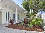 The home is situated mere steps from the beach in Fort Lauderdale,