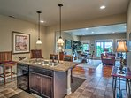 Enjoy the company of your family as you cook thanks to the open floor plan.
