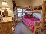 Guest bedroom with bunk beds.