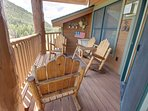 Private deck with Keystone slope views!