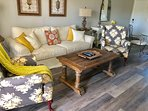 Enjoy relaxing on the sofa and chairs while sharing conversation with your family and friends.