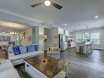 Open Living, Dining and Kitchen Areas