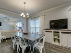 Dining Room with Buffet and TV
