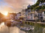 Polperro at sunset