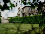 Tenis court in the residential