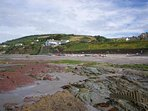 Downderry beach and pub