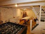 Games area in cellar