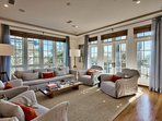 Enjoy a seat in the spacious living room.