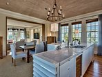 The open concept space allows you to be in contact with your family while you cook.