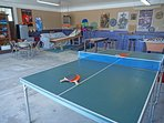 Garage Game Room with Ping Pong, Darts, Foos Ball, Skee Ball, and more