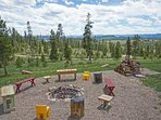 Panoramic Views from the fire pit