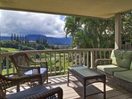 Admire mountain views from the private lanais of this vacation rental villa!
