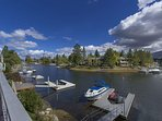 Park your boat or jet skis in the private boat dock!