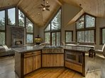 Beautiful, modern mountain architecture at the Gardner Retreat with airy ceilings and open layout