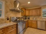 High end finishes in the kitchen, and plenty of space make the Glen Eagles Manor a great place to cook for a big family