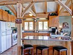 Be amazed at the Timber Beam construction  of a true mountain lodge.