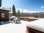 The mountain views from this home are some of the best we offer, and they're available from the hot tub!