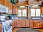 The kitchen has since been updated with stainless steel appliances and has plenty of counter space.