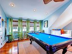 Another view of guest bedroom #5 with its pool table