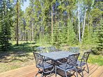 The deck offers nice forest views, a dining table, 8 person hot tub, and a bbq grill. The Peak 8 Nordic Center and...