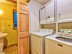 You'll find a washing machine and dryer in the laundry room.