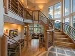 The elegant staircase and natural light ensure that you always make a grand entrance.
