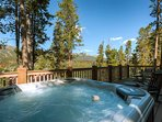 Remember that front flip faceplant you did on your snowboard? Enjoy the view while you recuperate in the roomy hot tub.