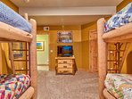 The Bunk Room sleeps four in extra-long twin beds.