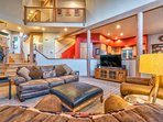 Enjoy the lofted ceilings as you relax.
