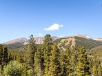See all the 5 peaks of the Breckenridge Ski Resort from your deck, living room or master bedroom.