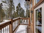 The Master bedroom balcony to soak in the views and fresh air.