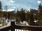 Check out the slopes you will be skiing from your balcony.