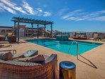 The rooftop pool and hot tub (with Gulf views) are the definition of recreation.