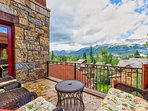 Your balcony offers fantastic mountain views.