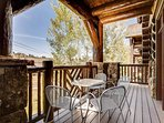 The deck has ample space for lounging with friends.